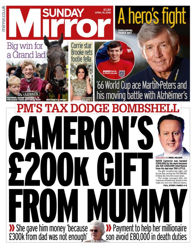 david cameron money 1