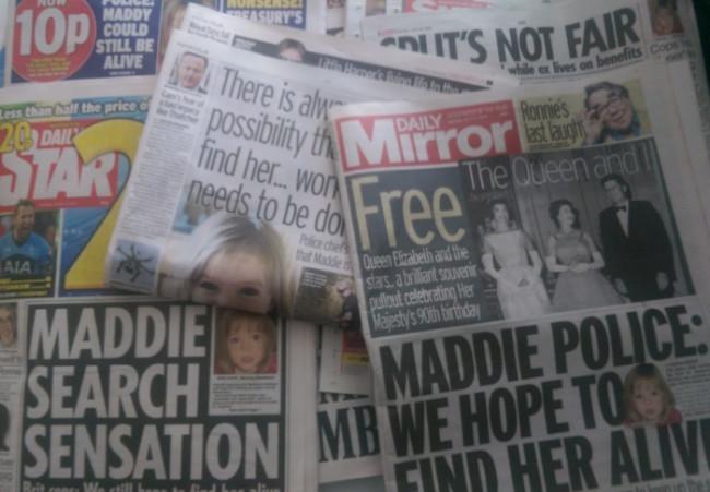 madeleine mccann tabloids
