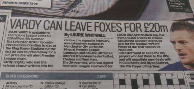 Jamie Vardy transfer