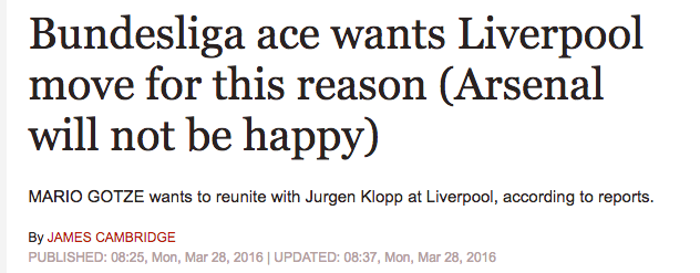Liverpool Gotze klopp
