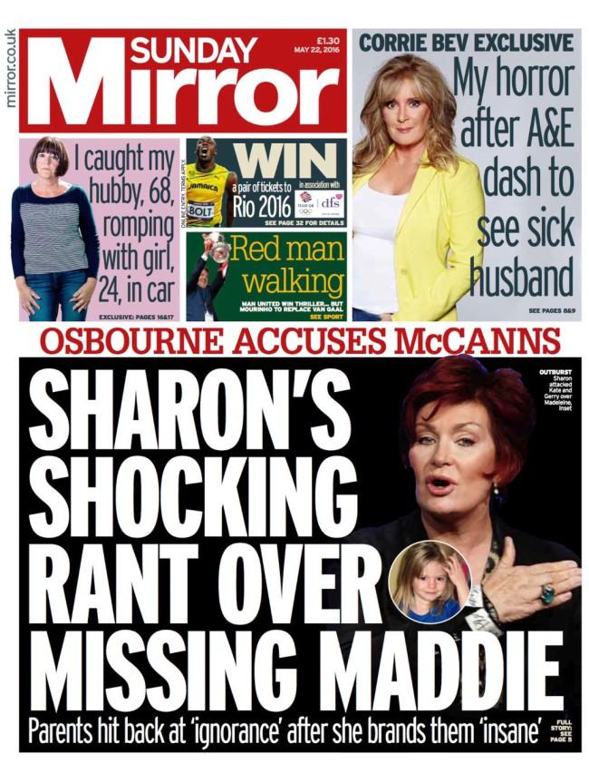 Madeleine Mccann Sharon Osbourne