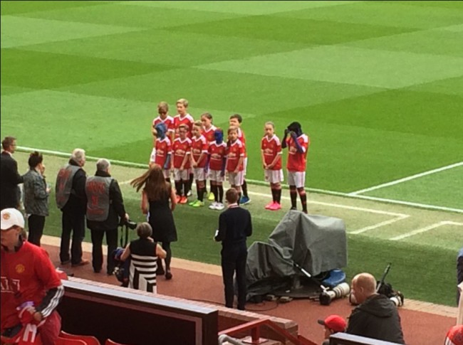 Sad: Manchester United paint mascots blue to please sponsors