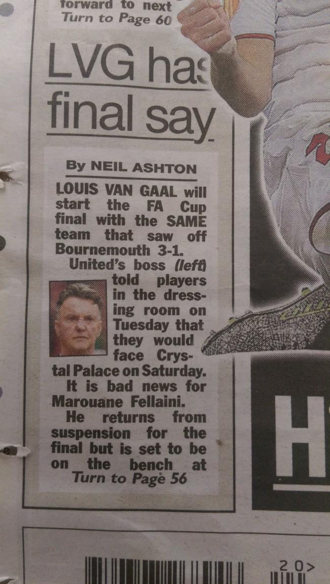 Manchester United Van Gaal FA Cup
