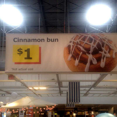 Ikea bun sign