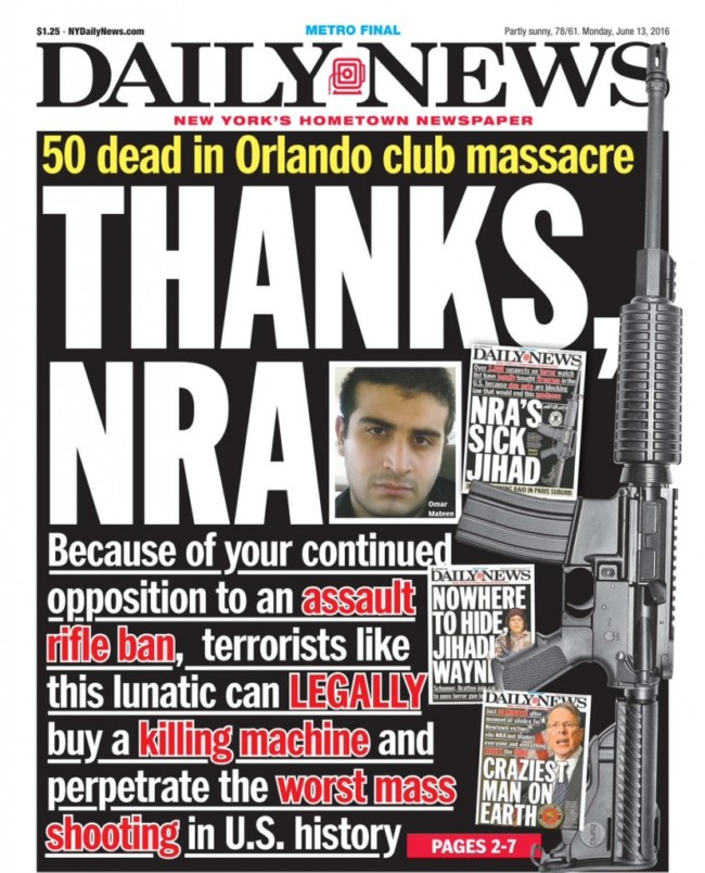 NYDN Front Page mateen NRA