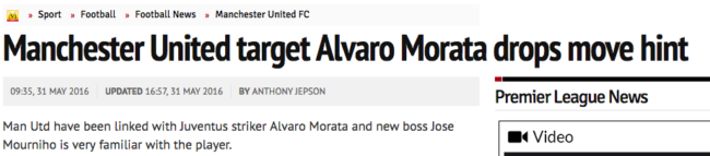 Morata Manchester United