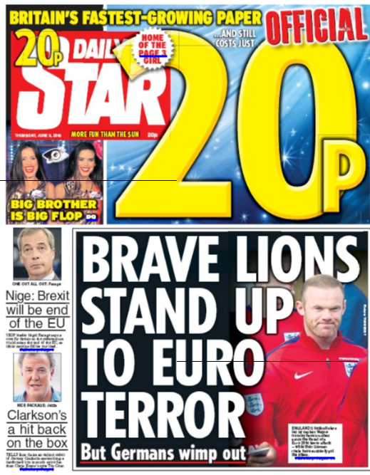 daily star england germans