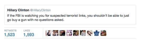 Hillary Clinton FBI tweet MAteen