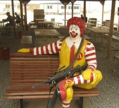 ronald mcdonald shot gun