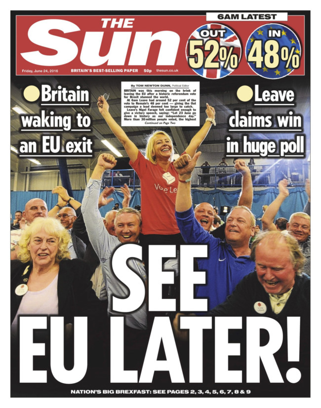 eu ref front pages the metro