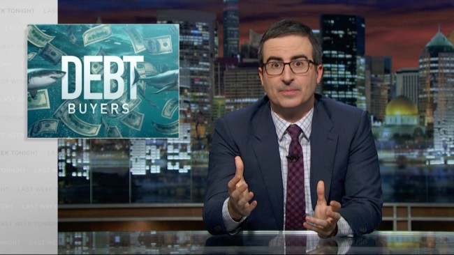 john oliver debt