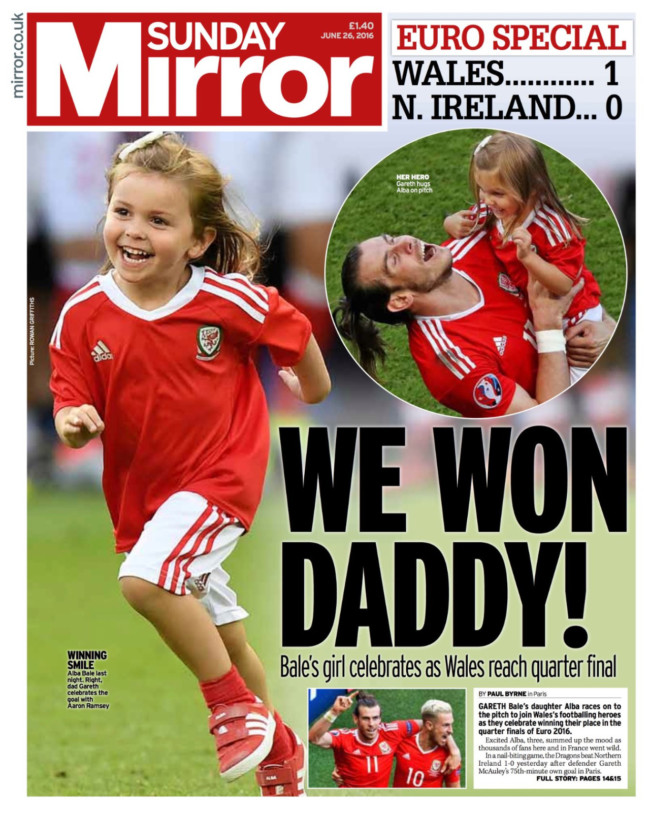 Sunday Mirror BRexit Wales