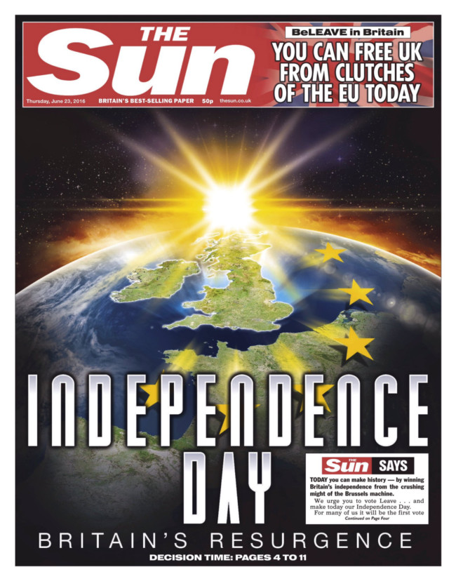 the sun eu referendum