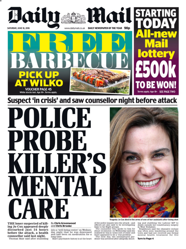 tommy Mair health jo cox