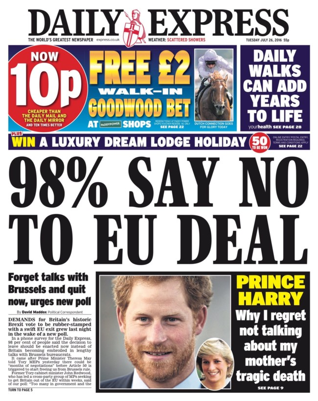 Brexit daily express