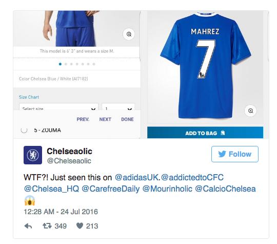 Mahrez Chelsea shirt