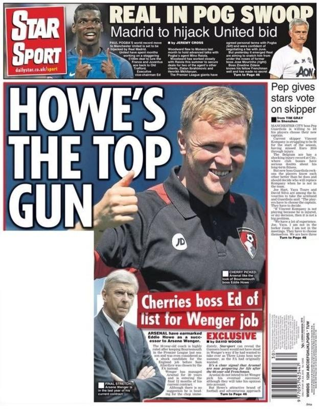 Wenger Arsenal manager Eddie Howe