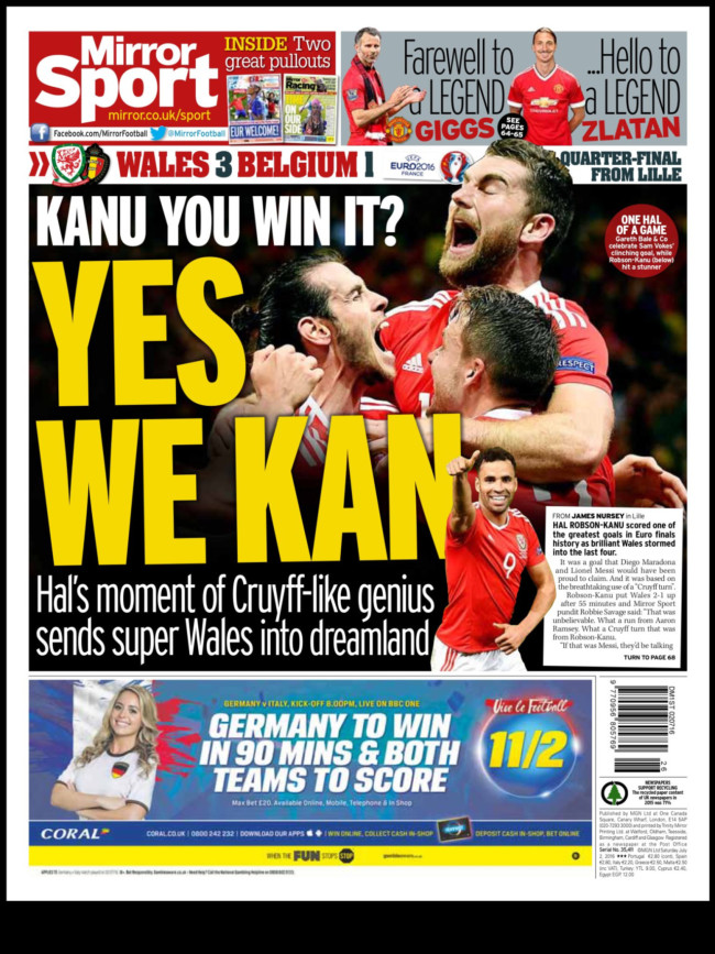 wales front pages
