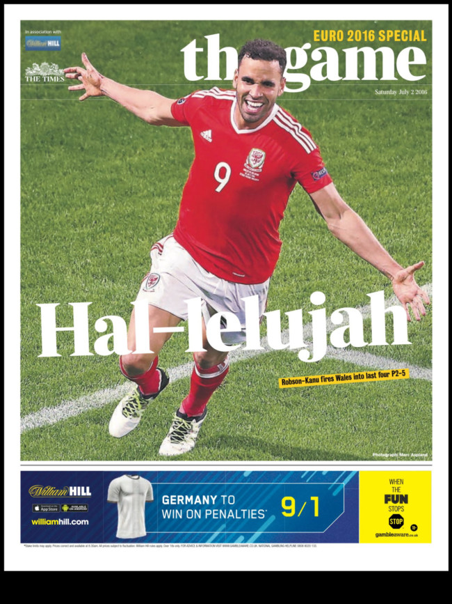 wales front pages euro 2016