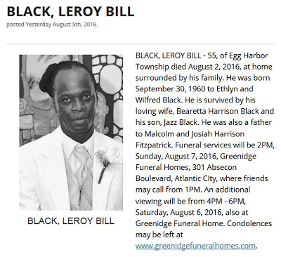 Leroy black obituary