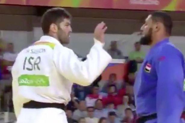 Rio Israel race judo handshake