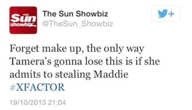 madeleine mccann sick tweet