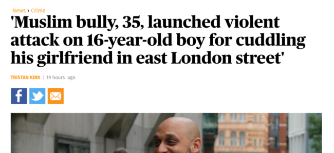 Muslim bully attack