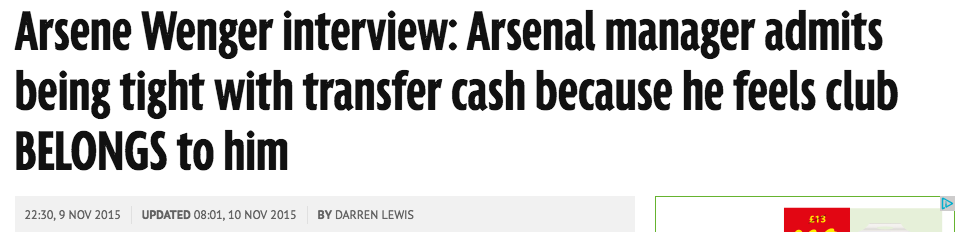 wenger daily mirror