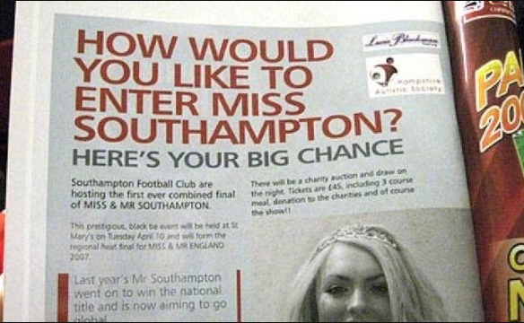 Miss touhampton headline fail.