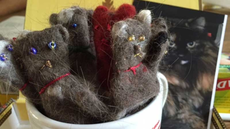 cat hair puppets
