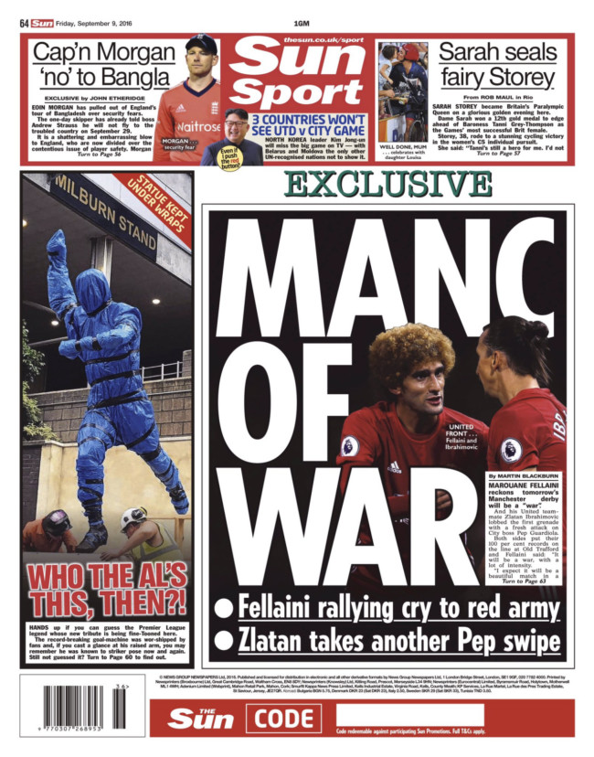 Man United Man City the sun