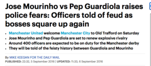 pep jose manchester united manchester city daily mail