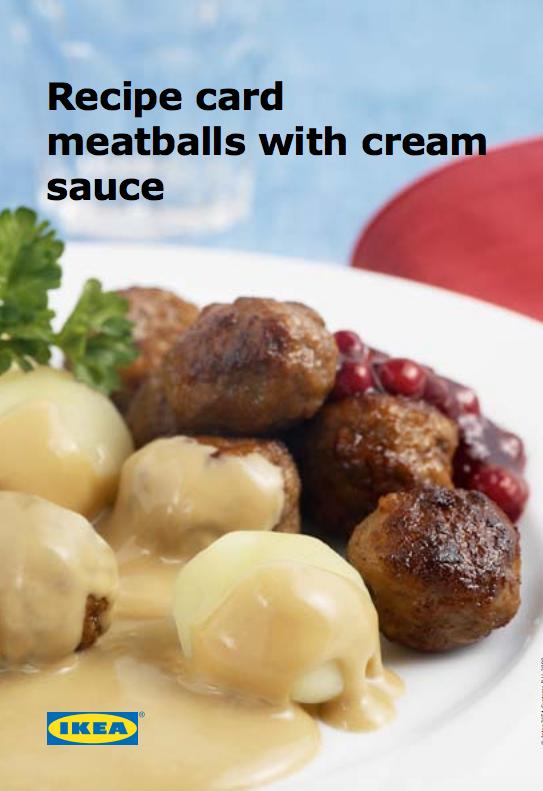 IKEA meatballs testicles