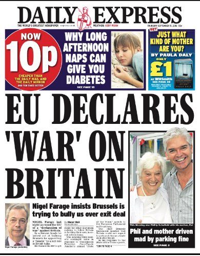 daily express war EU