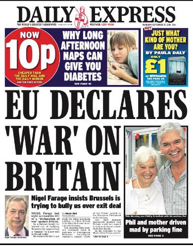 daily express war EU
