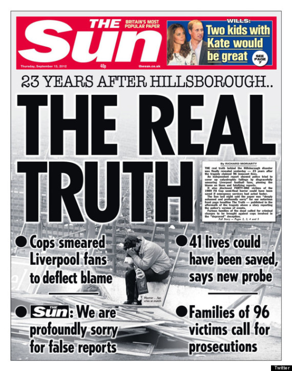 The Sun the truth Hillsborough