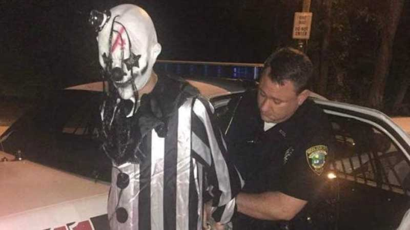 clown arrested
