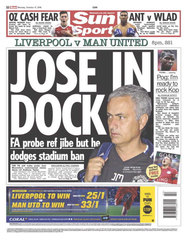 Mourinho Klopp Manchester United Liverpool