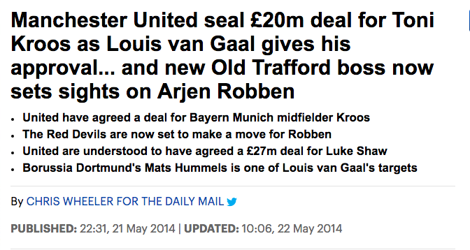 Kroos United Manchester