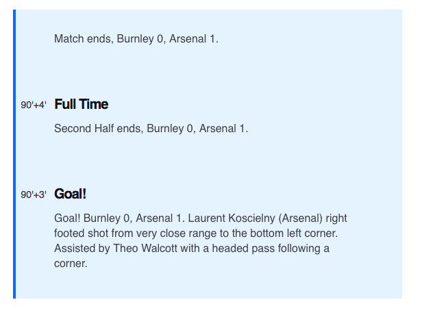 Arsenal Burnley