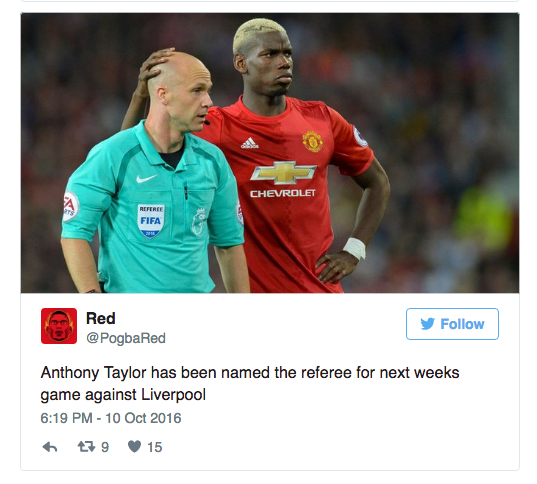 Manchester United referee Taylor