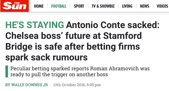 Antonio Conte sacked