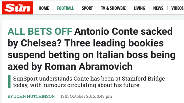the Sun Conte sacked