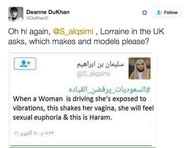 women driving haram