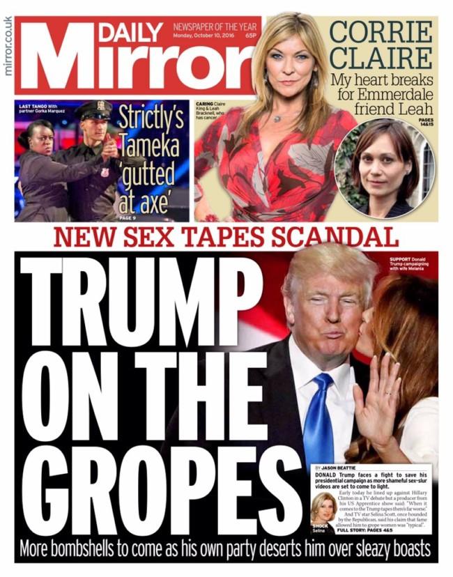 Trump Clinton grope