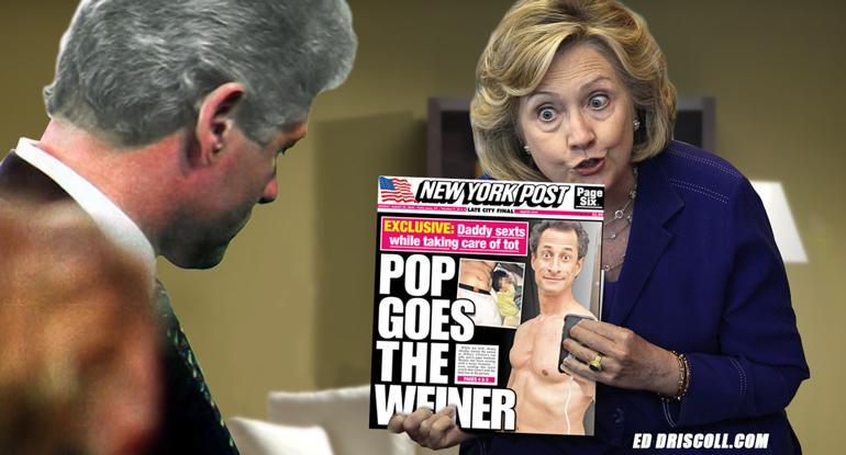 Hillary Clinton emails WEiner