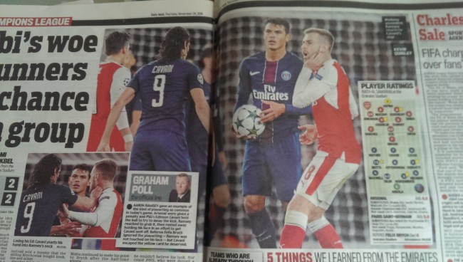cavani-arsenal daily mail
