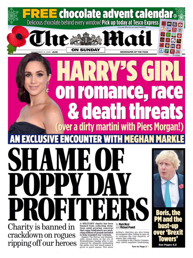 Daily Mail Meghan harry