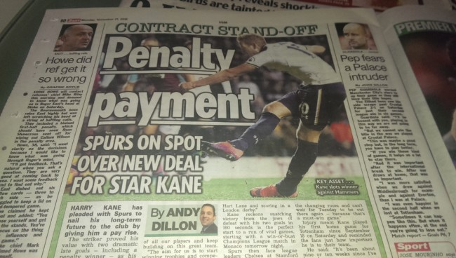 Harry Kane the sun