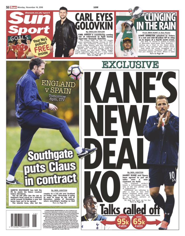 Harry Kane Spurs The Sun
